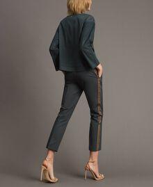 Pantalon en popeline à coupe cigarette Sous-bois Femme 191ST2040-04