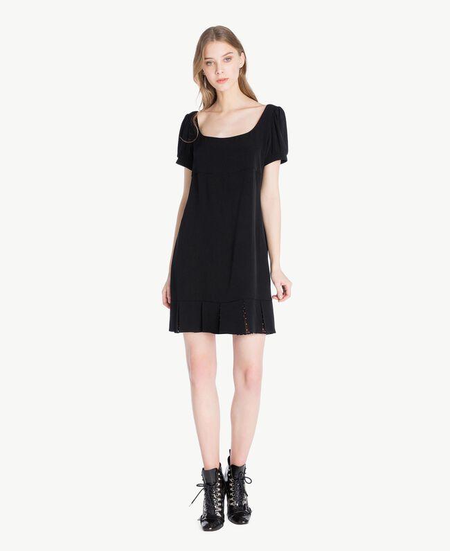 Polka dot dress Black Woman PS82ZA-01