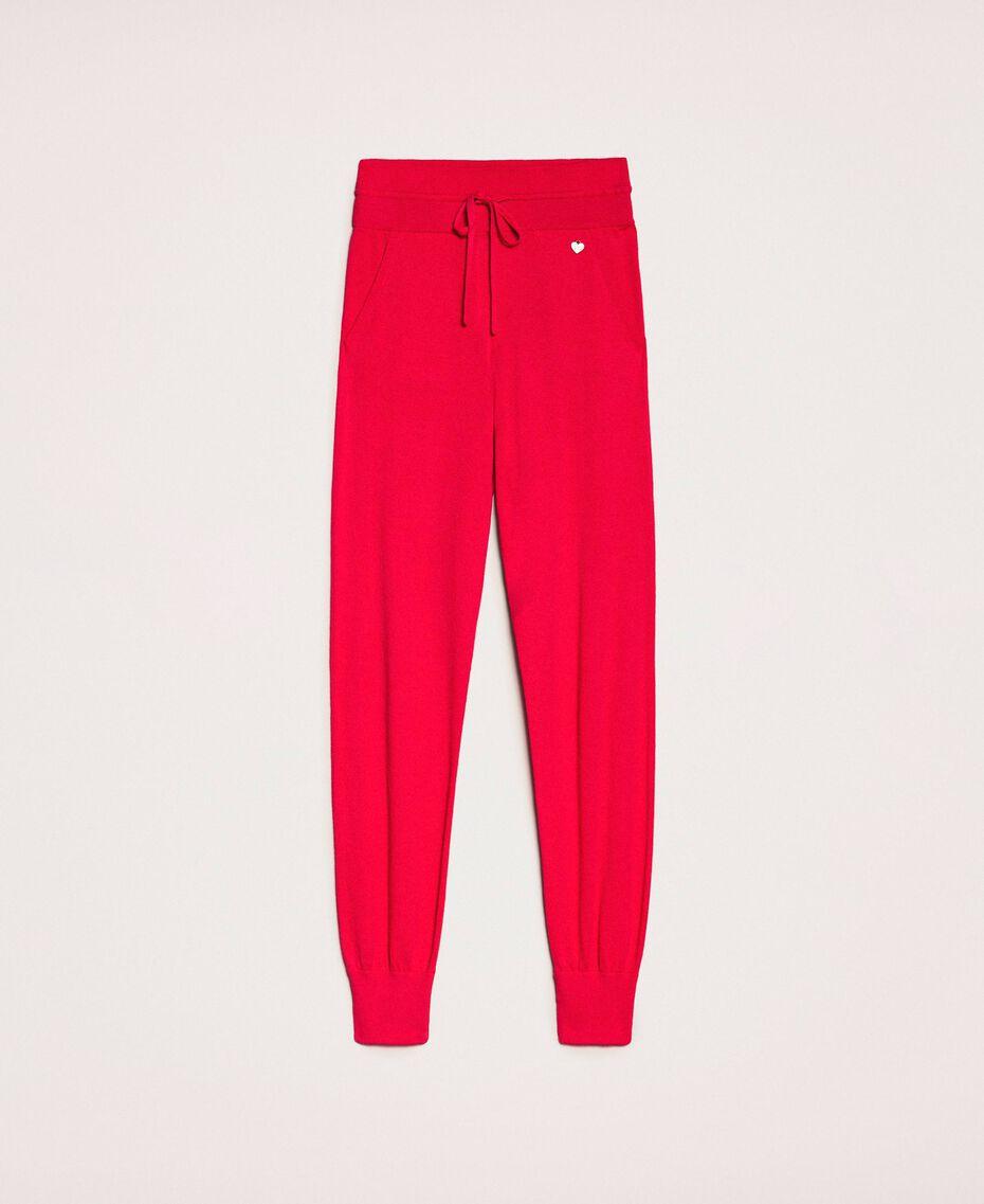 Cashmere blend joggers Black Cherry Woman 201TP3015-0S