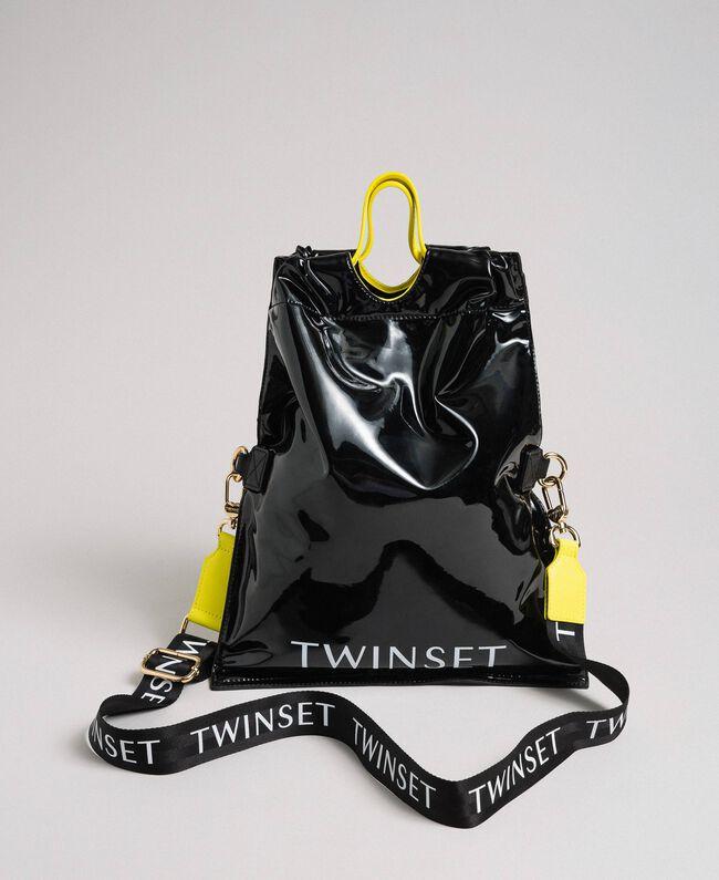 Маленькая складная сумка-шоппер из искусственной кожи Пыльный Розовый женщина 192TA7174-01