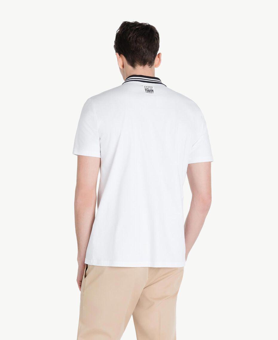 Poloshirt aus Jersey Mattweiß Mann US8221-03