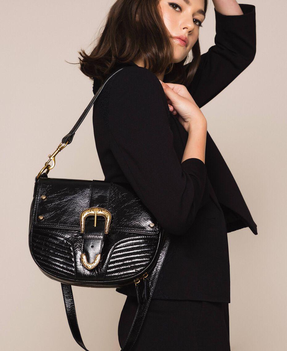 Large Rebel shoulder bag Black Woman 201TA723J-0S