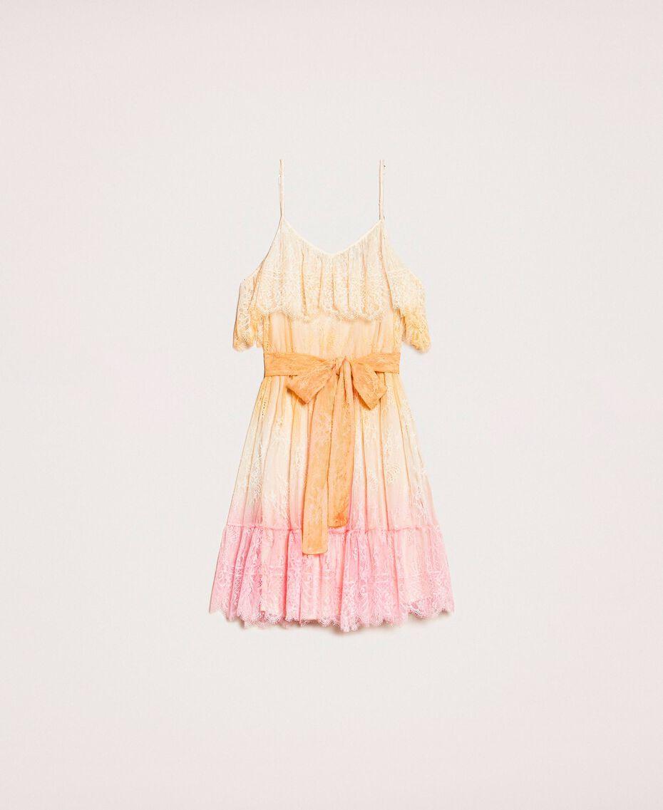 Tie-dye lace dress Multicolour Tie Dye Pink Woman 201TT2281-0S