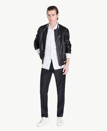 Poplin shirt Matte White Man US821B-05