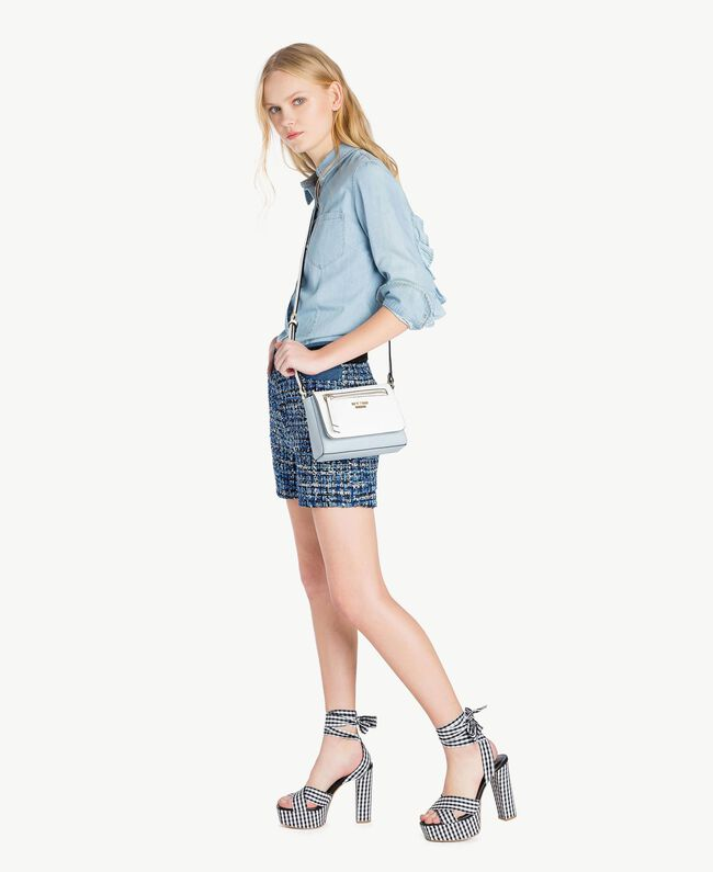 Shorts aus Bouclé Mehrfarbig Lapislazuliblau Frau JS82MF-05