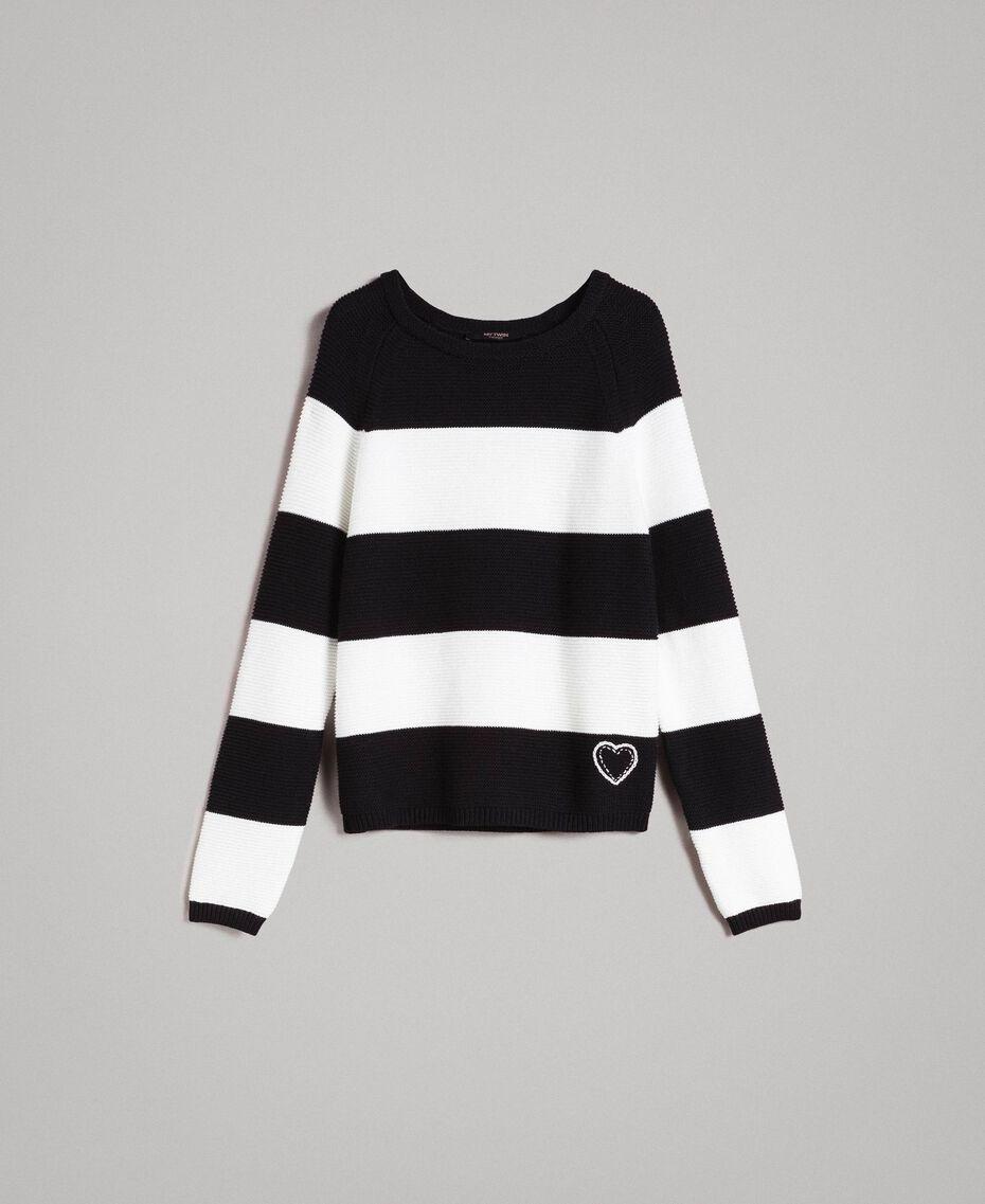Striped top with heart detail Multicolour Pastel Colour Woman 191MP3011-0S
