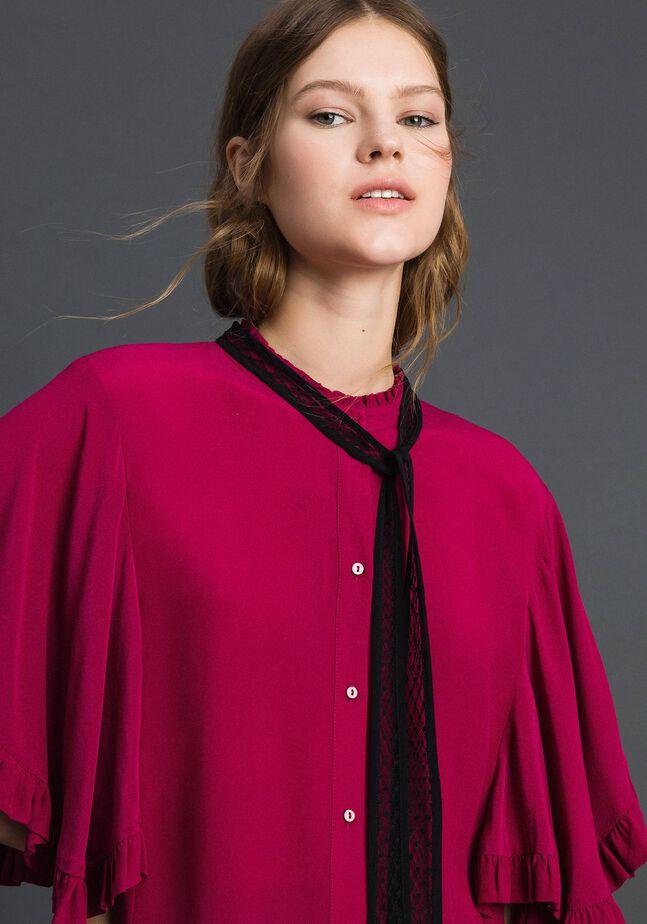 Crêpe de Chine silk blend shirt