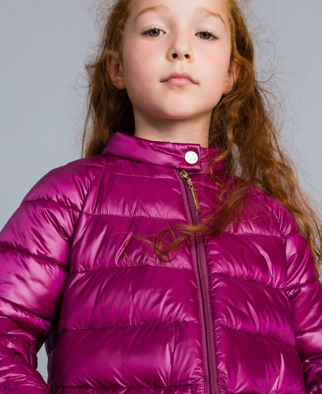 "Superleichte Steppjacke mit Herzen ""Sweet Grape""-Violett Kind GA82AX-04"