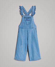 Jeans-Latzhose mit Logo Soft Denim Kind 191GB2560-01