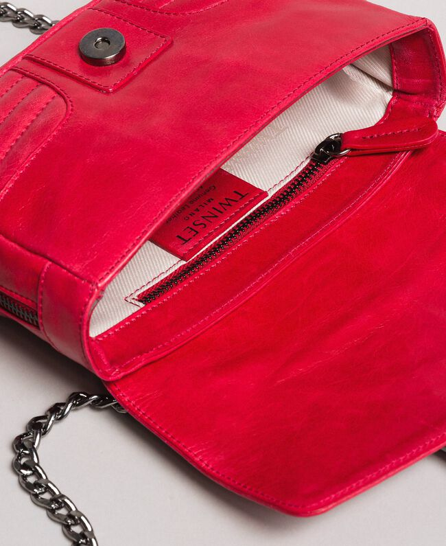 "Rebel leather shoulder bag ""Ruby"" Red Woman 191TA7237-05"