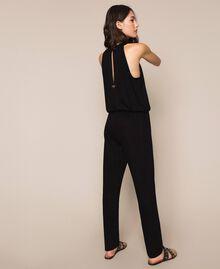 Jumpsuit with sequins Black Woman 201LB2CHH-03