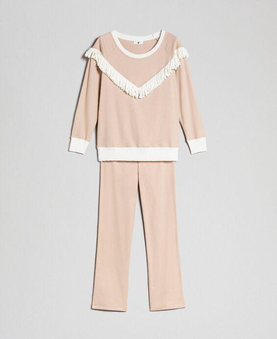 Pyjama long avec franges