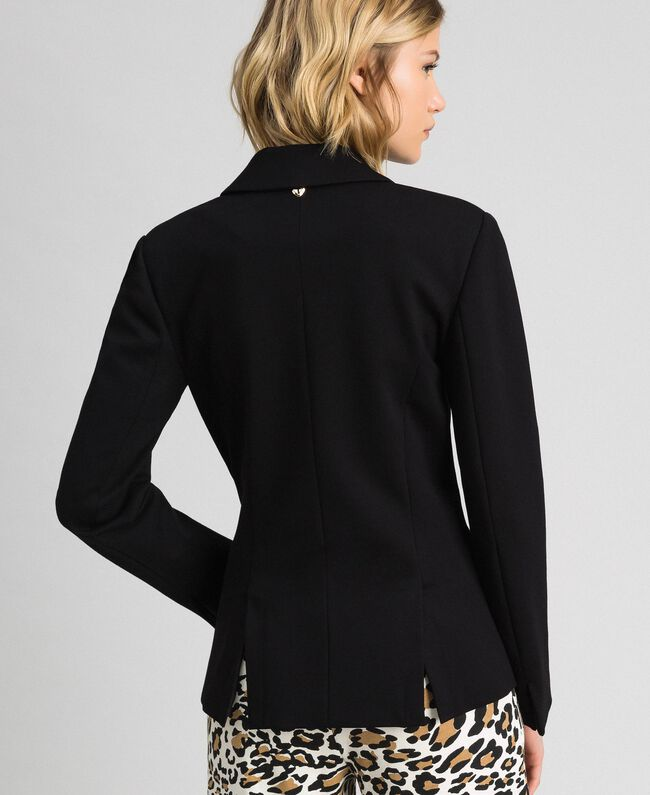 Double breasted slim fit jacket Black Woman 192MP2170-03
