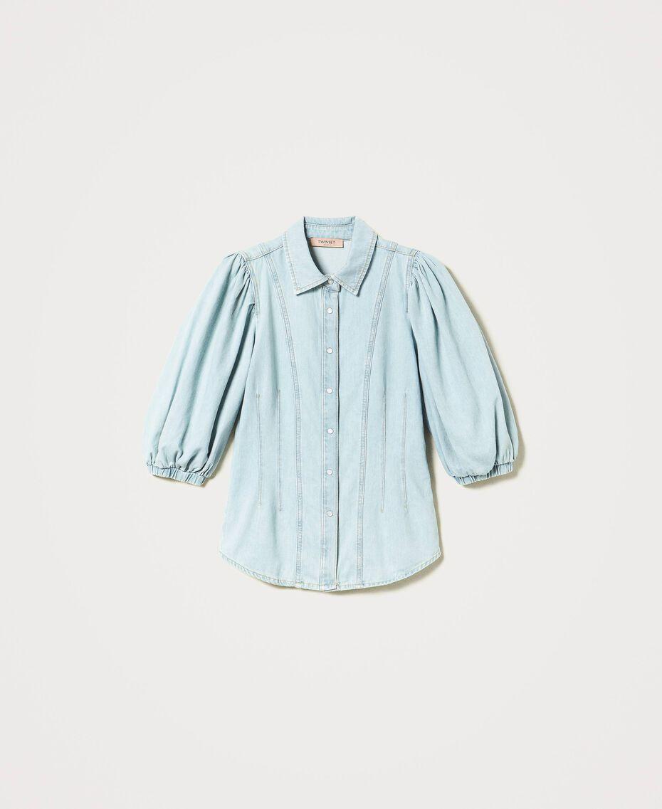 Camicia in jeans Denim Chiaro Donna 211TT2373-0S