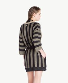 Lurex cardigan Two-tone Black / Gold Woman BS84BB-04