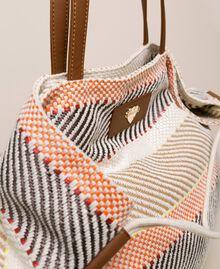 """Weaved fabric shopper Multicolour """"Milkyway"""" Beige Woman 201LM7ZJJ-02"""