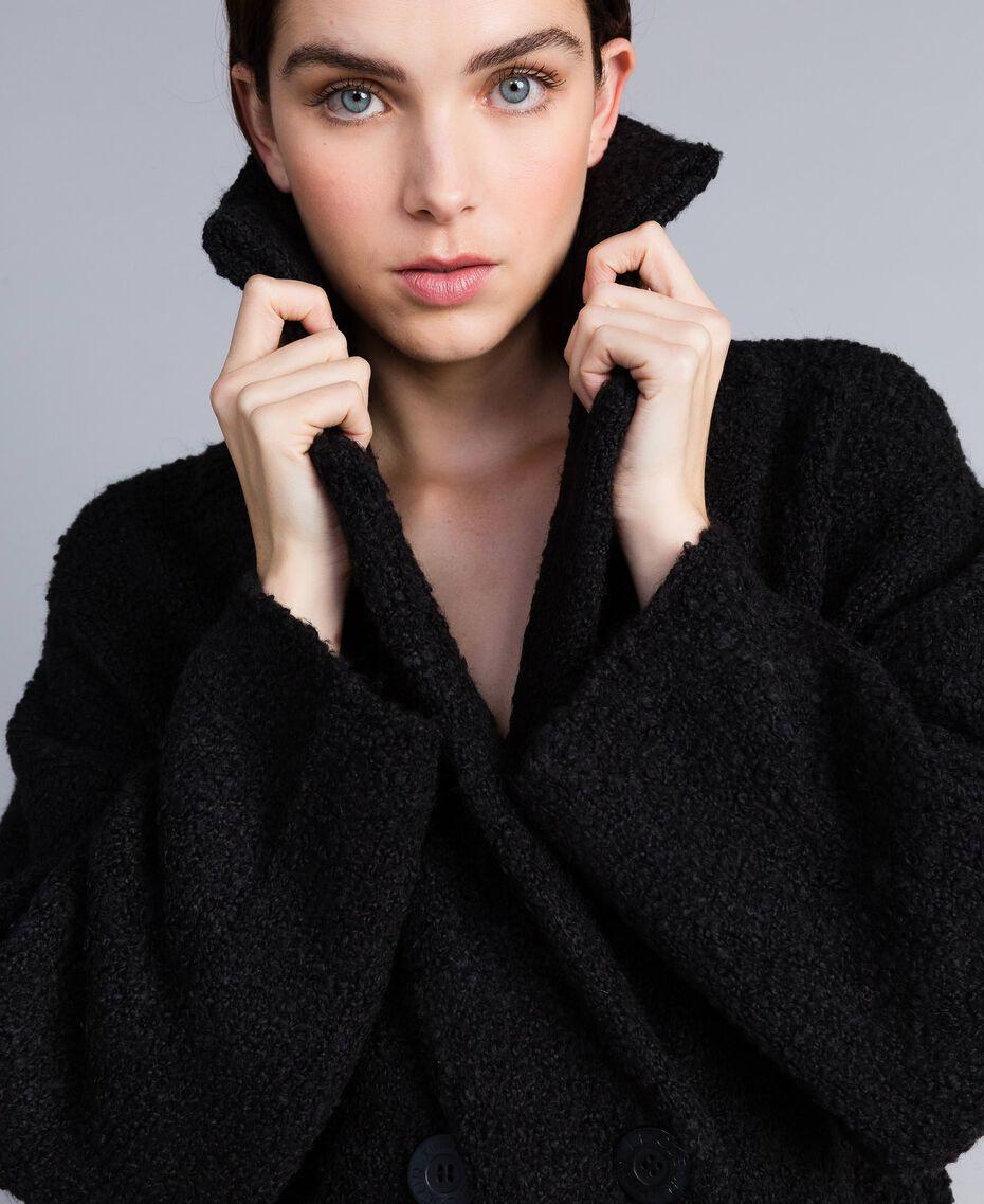 Bouclé coat Black Woman SA83CA-05