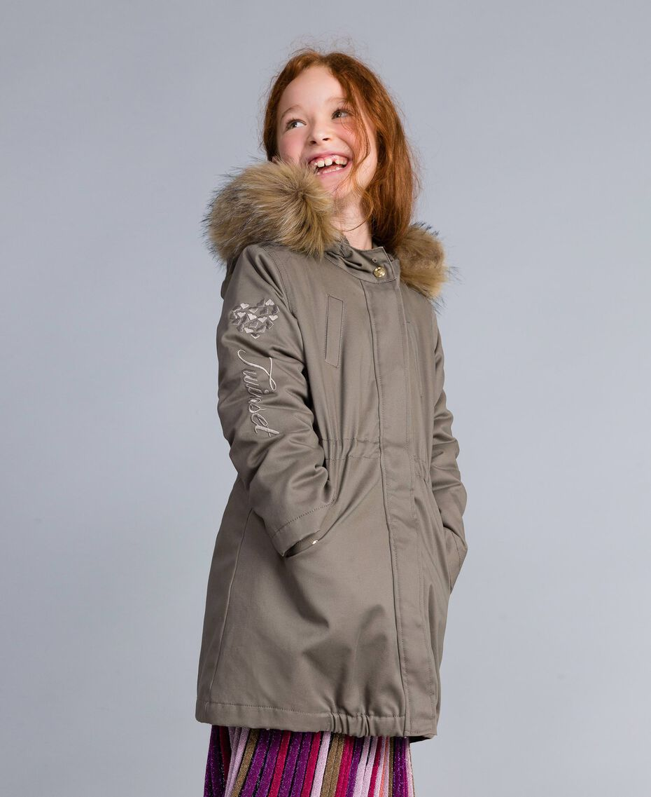 Parka aus Canvas Olive Kind GA82A1-02