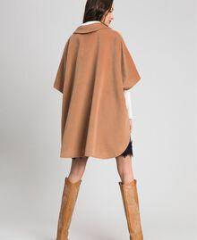 """Velour wool cape """"Camel Skin"""" Beige Woman 192LI2DDD-03"""