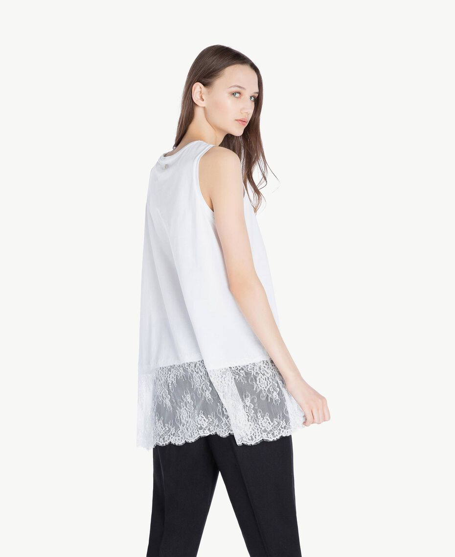 Top pizzo Bianco Donna SS82RB-03