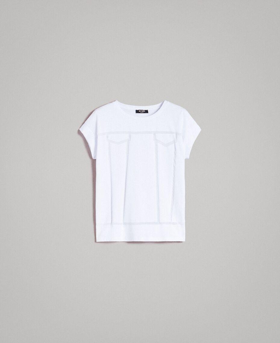 Trompe-l'oeil T-shirt White Woman 191MT2418-0S