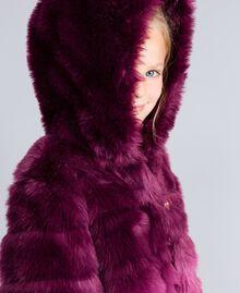 Veste réversible en fausse fourrure Imprimé Dégradé Violet Raisin/ Rose Bougainvillier Enfant GA82AR-04