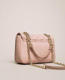 Faux leather shoulder bag with charms Quartz Pink Woman 201MA7043-04