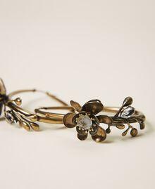 Boucles d'oreilles avec fleurs Laiton Usé Femme 202TO5051-02