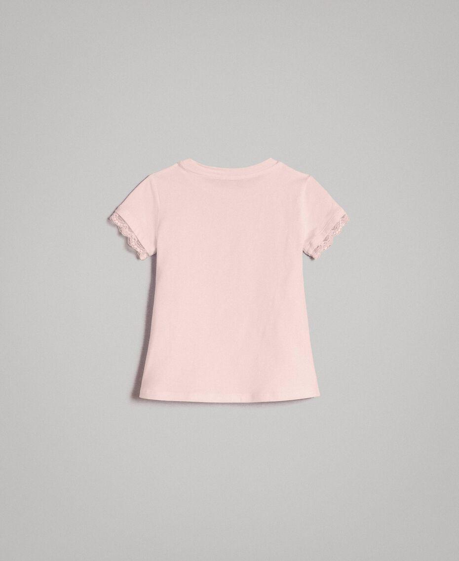 T-shirt en jersey orné de dentelle Rose En fleur Enfant 191GB2180-0S