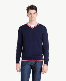 Pullover aus Baumwolle Blackout Blau Mann US831P-01