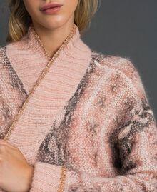 Animal print mohair maxi cardigan Canyon Pink Python Print Woman 192TT3331-04