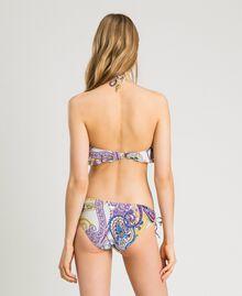 "Paisley print bandeau bikini top ""Milkyway"" Beige / Paisley Print Woman 191LMMS11-03"