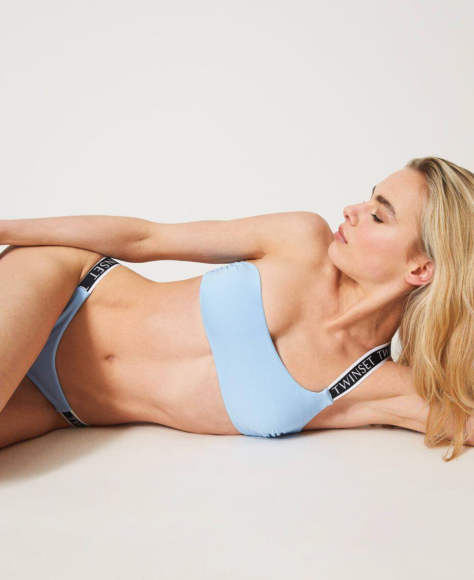 """Bikini con brassière monospalla e brasiliana Blu """"Cielo"""" Donna 211LMMPXX-01"""
