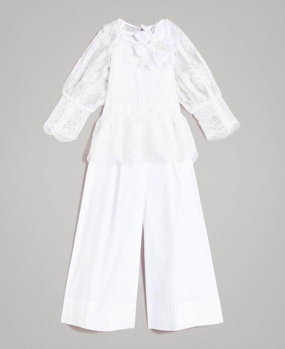 Combinaison en popeline et blouse en organza