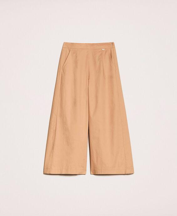 Укороченные поплиновые брюки