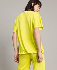 "T-Shirt mit Tunnelzug ""Lemon Juice"" Gelb Frau 191LL23GG-03"