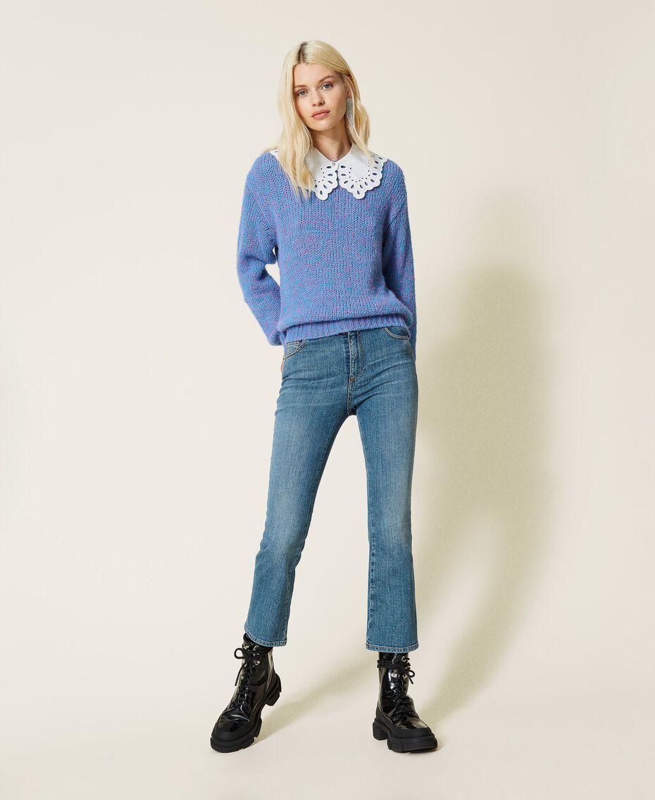 """Jeans flare 'Malachite' Blu """"Denim Medio"""" Donna 212AP2212-02"""
