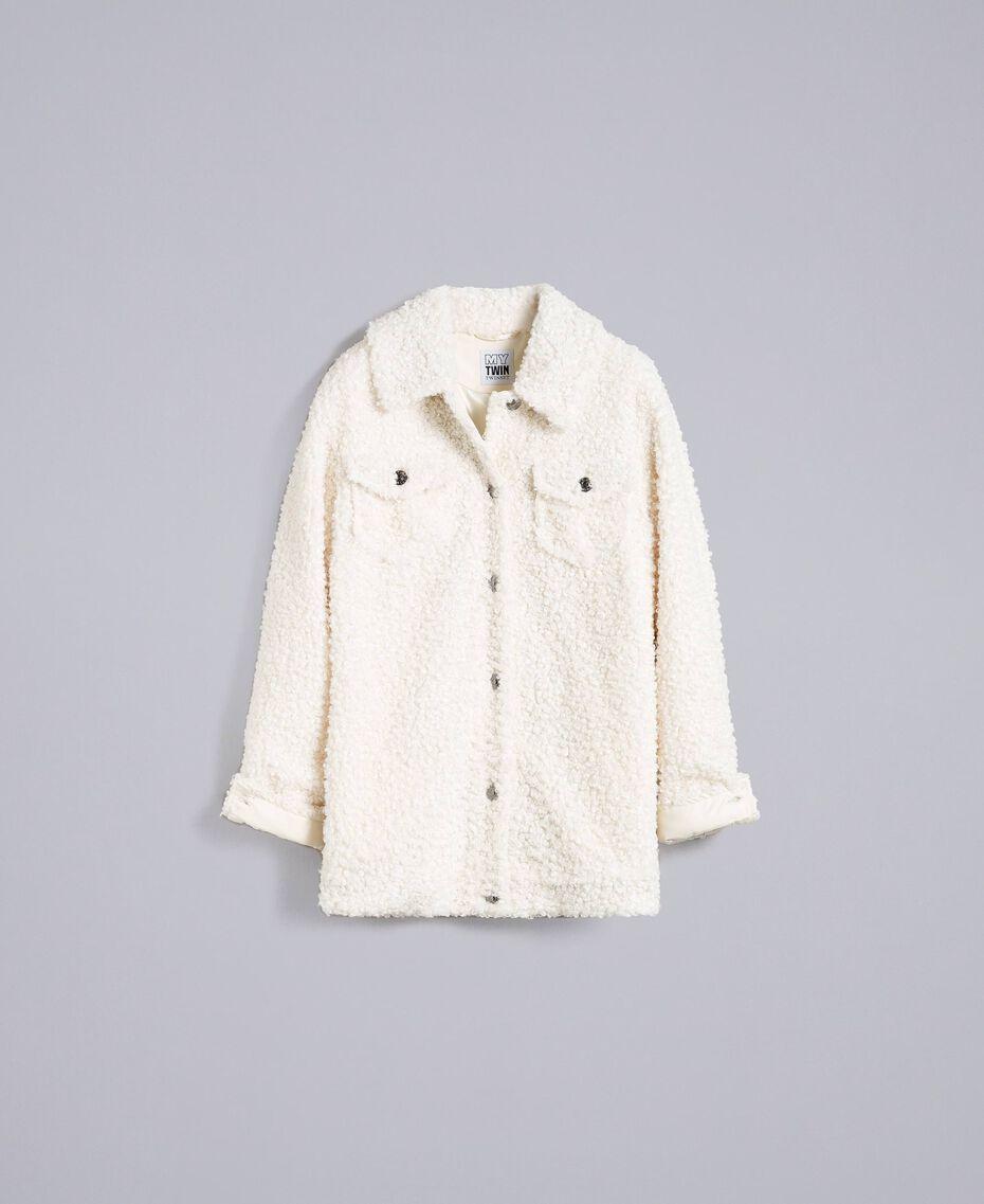 Куртка-кабан из искусственной кожи ягненка Перламутр женщина JA82KG-0S
