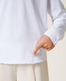 """Футболка с вышитым логотипом Белый """"Papers"""" Pебенок 202GJ2470-04"""