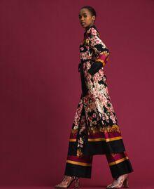 Robe chemisier longue avec imprimé foulard floral Imprimé Foulard Femme 192TP2604-02