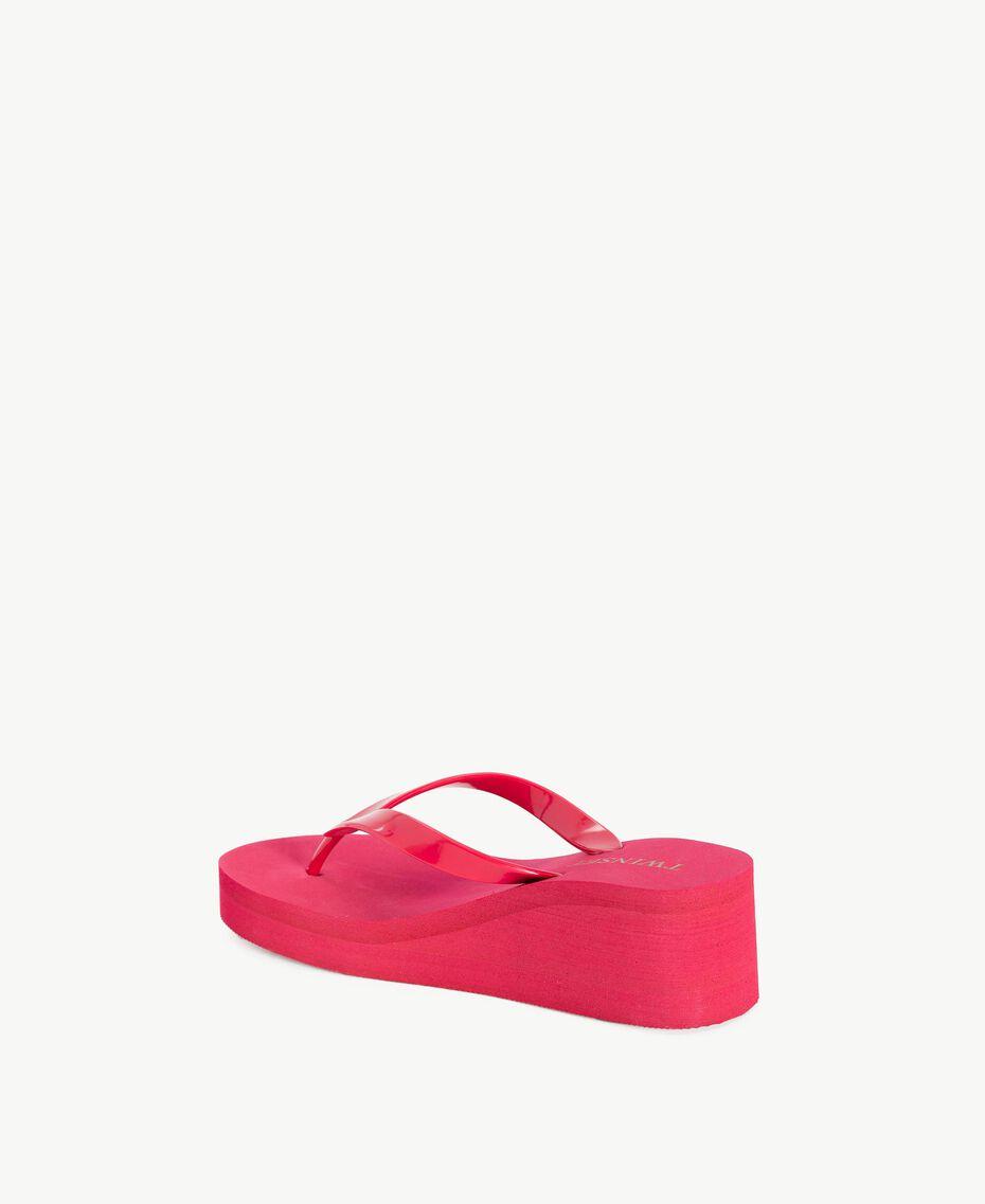 Platform flip flop shoes Pink Vegas Fuchsia Woman BS8ZAA-03