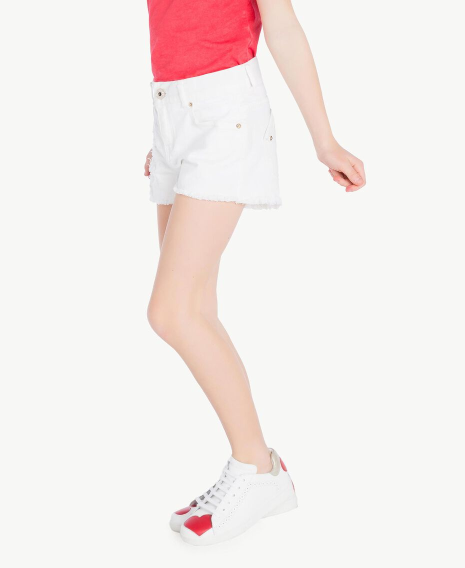 "Frayed shorts ""Papers"" White Child GS82CB-03"