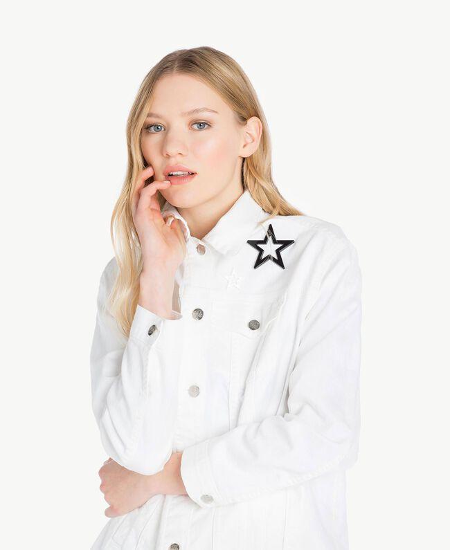Veste étoiles Blanc Femme JS82Z7-04