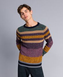 Maglia in misto lana color block Multicolor Mouline' Man Uomo UA83GC-01
