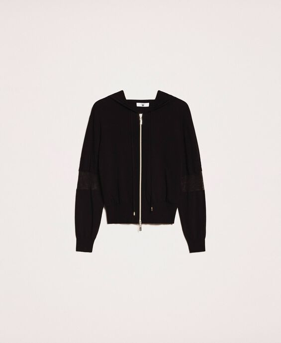 Bomber jacket with lace