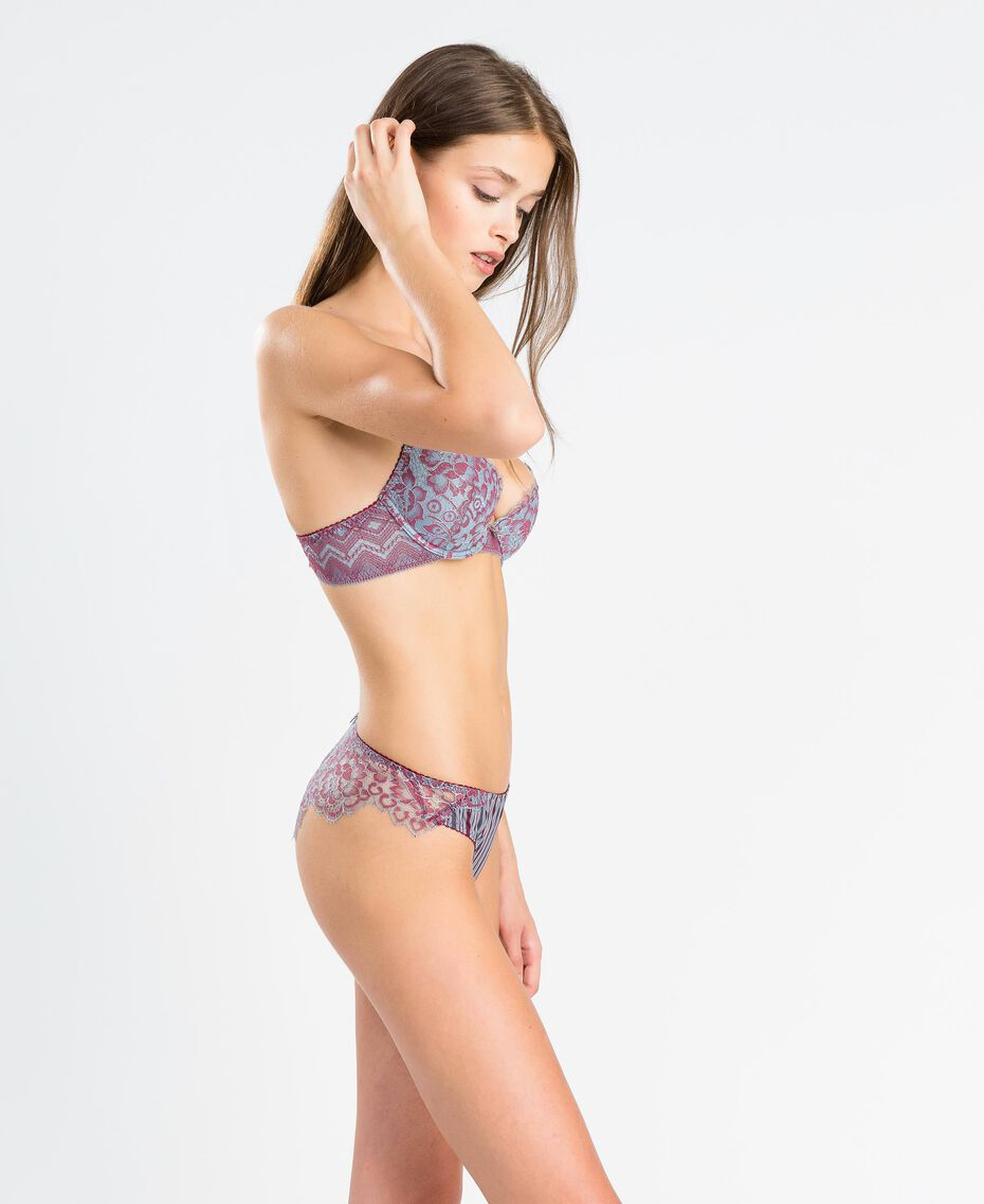 """Two-tone lace push-up """"Red Theatre"""" Red Woman IA8D44-0S"""