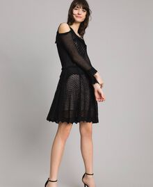 Lace stitch dress Black Woman 191TP3070-03