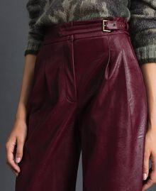 Широкие брюки из искусственной кожи Красный Бархат женщина 192TT203C-04