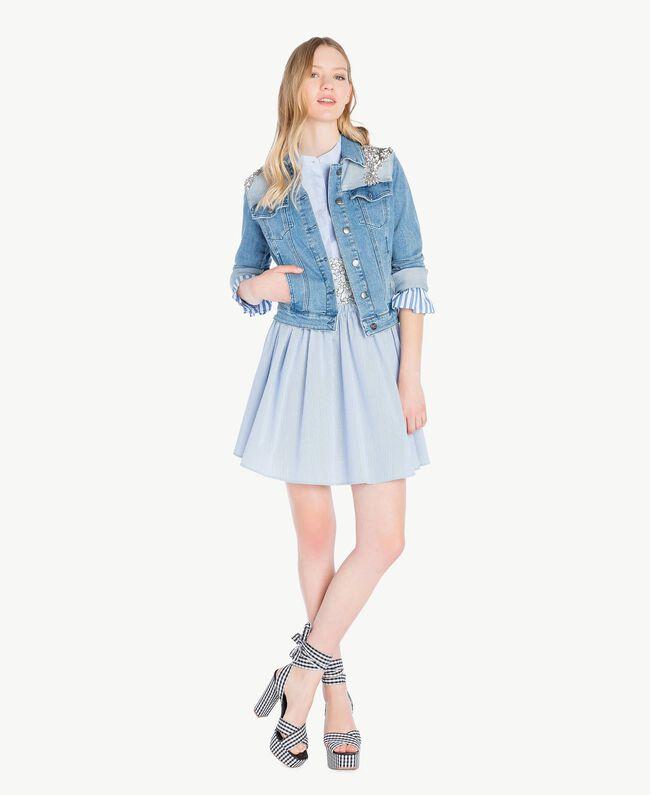 Lace chemise dress Topaze Sky Blue Woman JS82D5-05