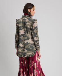 Camouflage print jacket with embroideries Camouflage Print Woman 192TP2032-03